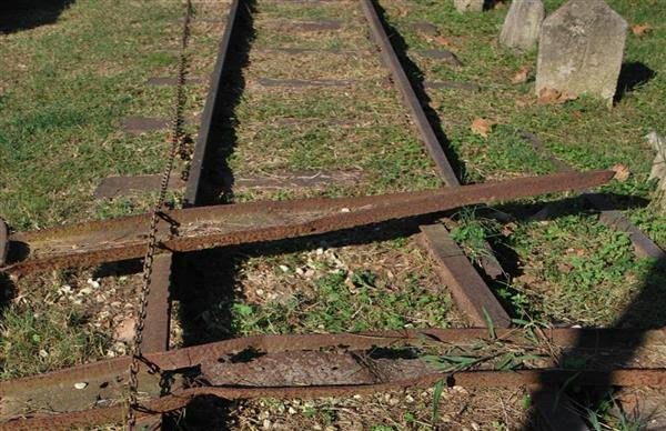 Gleise der Schmalspurbahn