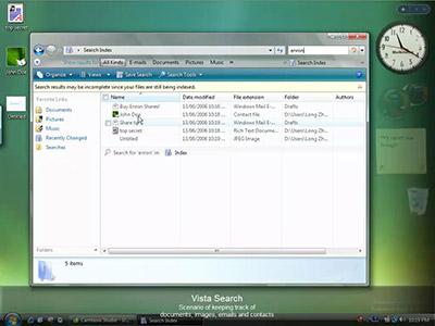 Búsqueda en Windows Vista