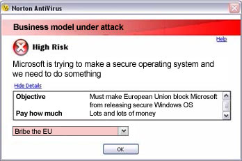 Norton bribes EU