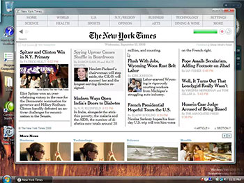 New York Times Reader screencast