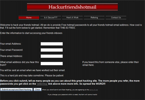 Hack your friends' Hotmail | istartedsomething