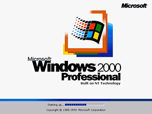 Windows 2000 bootscreen