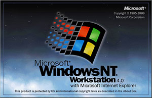 Windows NT 4.0 bootscreen