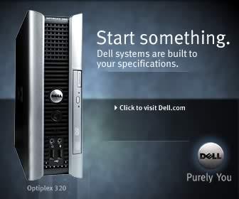 """Dell banner ad """"start something"""""""
