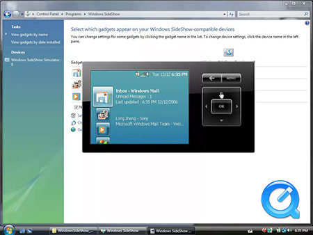 Windows Vista SideShow screencast