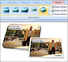 Changing picture styles on MSN.com with Office 2007