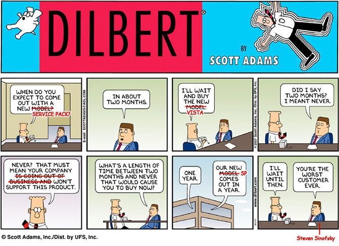 Dilbert - Windows Vista Service Pack