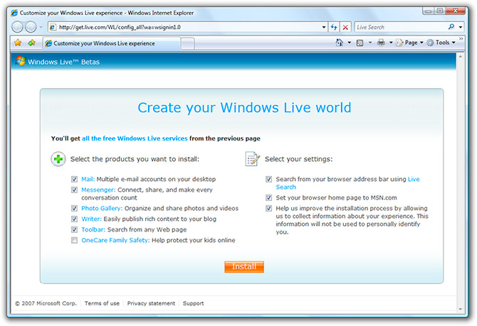 The cookie magic behind Windows Live Suite installer