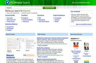 Microsoft HealthVault Search