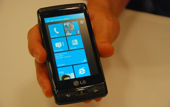Windows Phone 7 devices in developers' hands July