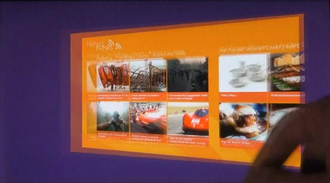 Windows 8 Tablet UI D9 demo