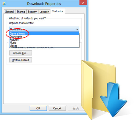 """Quick fix for very slow to load """"Downloads"""" folder in Windows 7 & 8 ... Quick fix for very slow to load """"Downloads"""" folder in Windows 7 & 8"""