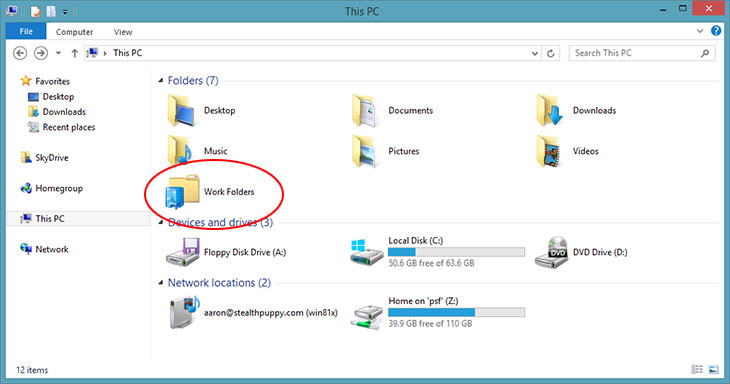 Windows 8 1 Work Folders The Free Self Hosted Dropbox For