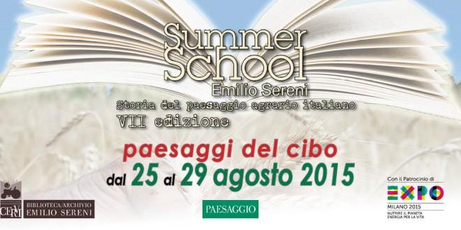 SUMMER SCHOOL EMILIO SERENI  dal 25 al 29 agosto 2015  Istituto Alcide Cervi
