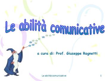 Istituto Fattorello - Le abilità comunicative