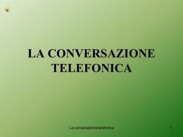 Istituto Fattorello - Conversazione Telefonica