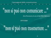 I Presupposti della Comunicazione