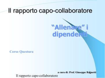 Fattorello - Rapporto Capo-Collaboratore