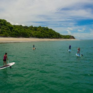 Stand-up-paddle-boarding vacation at the beautiful Playa Grande Beach.