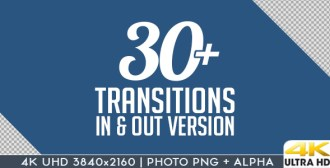 4K Motion Graphics Transitions