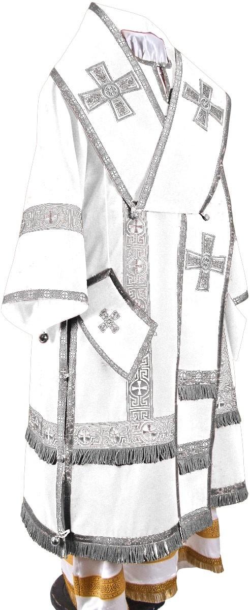Orthodox Church liturgical Bishop clergy vestments (white