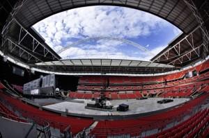 Wembley - stadionul gol inaintea unui concert