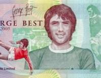 Bancnota de 5 lire cu George Best