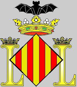 Stema orasului Valencia cu liliacul pe coroana