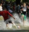 Fotbal in apa