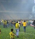 Sarbatoarea castigarii titlului pe stadionul lui Fener