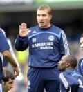 Chelsea reserve team coach Brendan Rodgers (centre)