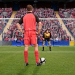 Goalkeeper anticipating free kick
