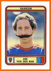 Abe VAN DEN BAN Panini HAARLEM 1980