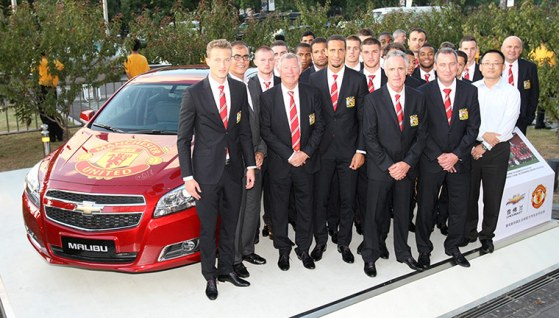 Manchester United Squad Attend Chevrolet Event