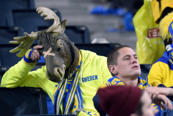 A sad Moose Supporting Sweden