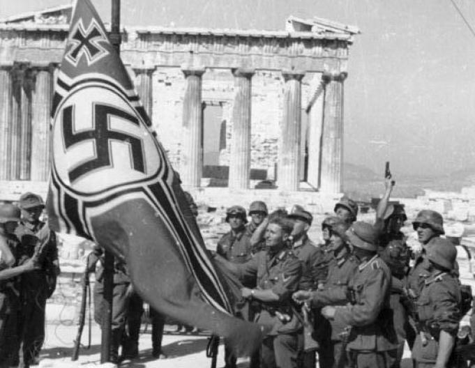 Ridicarea steagului nazist pe Acropole