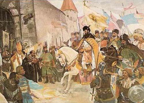 Mihai Viteazul intrând în Alba-Iulia