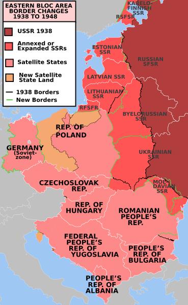 Modificările hotarelor 1938-1948, consecinţă a Pactului Ribbentrop - Molotov