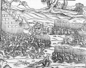 Bătălia de la Varna reprezentată într-o cronică poloneză de la 1564