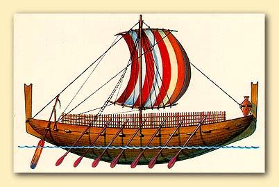 Финикийский торговый корабль