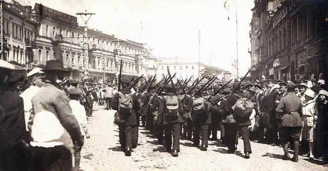 Моряки Пінської флотилії у Києві, травень 1920 року
