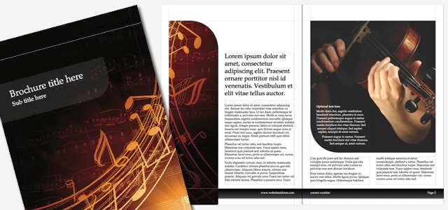 Brochure Music • IStudio Publisher • Page Layout