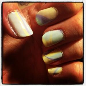 pastel violet/gul/mint marble