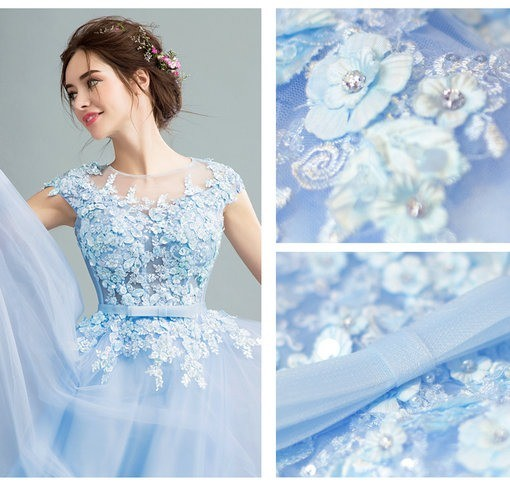 A Line Blue Evening Gown Maternity Evening Gown - Cheap Prom Dress ...