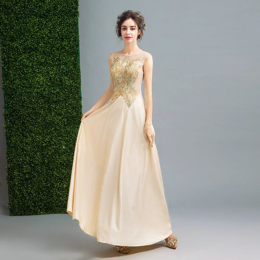 Gold Evening Gown Evening Prom Party Dress online - Cheap Prom Dress ...