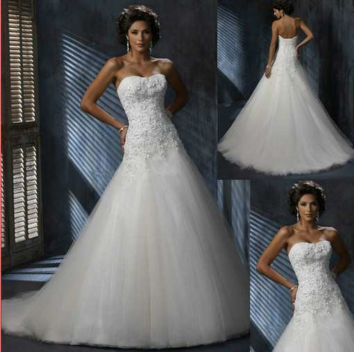 Strapless Mermaid Wedding Dress wholesale - Cheap Prom Dress,Evening ...