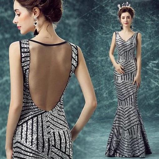 V Neck Evening Gown Plus Size Cheap Prom Dressevening Dress