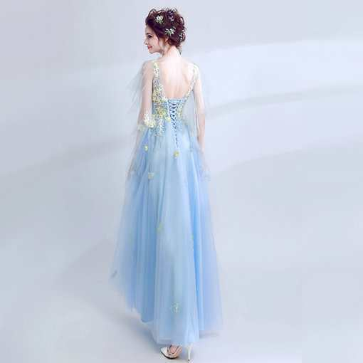 A Line Prom Dress Light Blue on sale - Cheap Prom Dress,Evening ...
