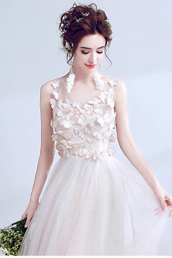 A Line Prom Dress Light Pink Evening Dress - Cheap Prom Dress ...
