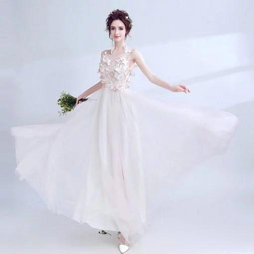 A Line Prom Dress Light Pink Evening Dress - Cheap Prom Dress ...